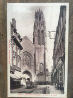 62 - CPA Animée ARRAS - L'Eglise St-Jean-Baptiste - La Tour Et Le Portail (Fauchois) - Arras