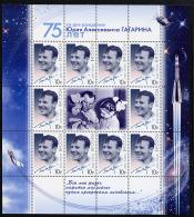 RUSSIE RUSSIA 2009, ESPACE, YOURI GAGARINE, Feuillet De 10 Valeurs, NEUF / MINT. R2009gagarine - Space
