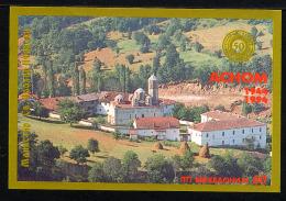 MACEDOINE 1994, RELIGION, CLOITRE, ASNOM, 1 Bloc, Neuf / Mint. R693 - Macédoine