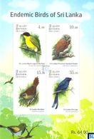 Sri Lanka Stamps 2017, Endemic Birds, Owl, MS - Sri Lanka (Ceylon) (1948-...)