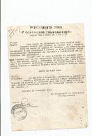 ITALIA LETTERA DEL  3 ° REGGIMENTO GENIO 1 ° COMPAGNIA TELEGRAFISTI 1917 . ITALIE LETTRE REGIMENT MILITAIRE 1917 - Documents Historiques