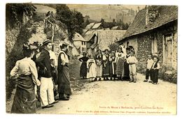 CPA 09 Ariège Sortie De Messe à Bethmale Près De Castillon-les-Bains - France