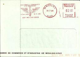 Lettre  EMA Havas M Vichy Moulins Chambre De Commerce Industrie  Medecine  Santé      B/1318 - EMA ( Maquina De Huellas A Franquear)