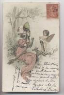 Femme Et Petit Ange - Fée - 1906 - Illustration - Roman,tique - Cupidon - Anges