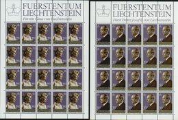 Liechtenstein 1983 Michel Nr.n 828 + 829 **, Postfrischer Zwanzigerbogensatz (Michel€ 140,-) - Blocs & Feuillets