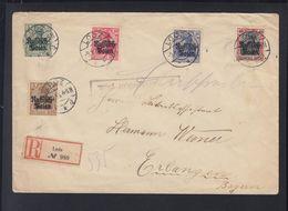 Besetzung Polen Poland R-Brief 1915 Lodz Nach Erlangen - Besetzungen 1914-18