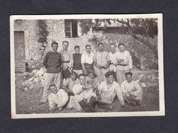 Photo Originale Vintage Snapshot Groupe De Militaires Du 24 24è Bataillon De Chasseurs Alpins à La Gorra - War, Military