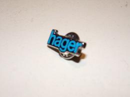 """Pin's """" Hager """" Fabricant De Matériel électrique - Trademarks"""