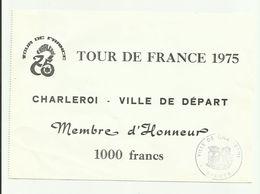 Tour De France 1975 Ville Départ Charleroi - Old Paper