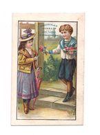 CHROMO CHOCOLAT LORRAIN EVRARD NANCY -  ENFANTS ROMANTIQUES - - Chocolat