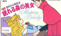 Télécarte DISNEY Japon (110-49898) SLEEPING BEAUTY  (5249) * JAPAN PHONECARD *  CINEMA FILM MOVIE KINO - Disney