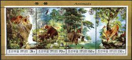 KOREA, 2003, WILD FAUNA, BEAR, TIGER, GAME, BOAR, YV#3252-55, MNH - Bears