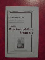 LES MAXIMAPHILES FRANÇAIS : REVUE MENSUELLE N°77 (1952) / ASSOCIATION DES COLLECTIONNEURS DE CARTES MAXIMUM (FRANCAIS) - Filatelie En Postgeschiedenis