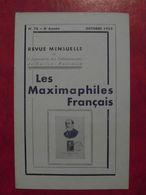 LES MAXIMAPHILES FRANÇAIS : REVUE MENSUELLE N°78 (1952) / ASSOCIATION DES COLLECTIONNEURS DE CARTES MAXIMUM (FRANCAIS) - Filatelie En Postgeschiedenis