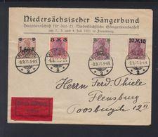 Dt. Reich Expresbrief 1921 Flensburg - Deutschland