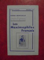 LES MAXIMAPHILES FRANÇAIS : REVUE MENSUELLE N°80 (1952) / ASSOCIATION DES COLLECTIONNEURS DE CARTES MAXIMUM (FRANCAIS) - Filatelie En Postgeschiedenis