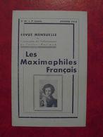 LES MAXIMAPHILES FRANÇAIS : REVUE MENSUELLE N°81 (1953) / ASSOCIATION DES COLLECTIONNEURS DE CARTES MAXIMUM (FRANCAIS) - Filatelie En Postgeschiedenis