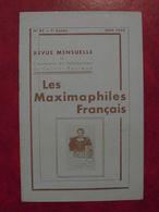 LES MAXIMAPHILES FRANÇAIS : REVUE MENSUELLE N°85 (1953) / ASSOCIATION DES COLLECTIONNEURS DE CARTES MAXIMUM (FRANCAIS) - Filatelie En Postgeschiedenis