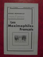 LES MAXIMAPHILES FRANÇAIS : REVUE MENSUELLE N°86 (1953) / ASSOCIATION DES COLLECTIONNEURS DE CARTES MAXIMUM (FRANCAIS) - Filatelie En Postgeschiedenis