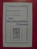 LES MAXIMAPHILES FRANÇAIS : REVUE MENSUELLE N°87 (1953) / ASSOCIATION DES COLLECTIONNEURS DE CARTES MAXIMUM (FRANCAIS) - Filatelie En Postgeschiedenis