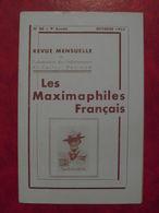 LES MAXIMAPHILES FRANÇAIS : REVUE MENSUELLE N°88 (1953) / ASSOCIATION DES COLLECTIONNEURS DE CARTES MAXIMUM (FRANCAIS) - Filatelie En Postgeschiedenis