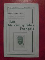 LES MAXIMAPHILES FRANÇAIS : REVUE MENSUELLE N°93 (1954) / ASSOCIATION DES COLLECTIONNEURS DE CARTES MAXIMUM (FRANCAIS) - Filatelie En Postgeschiedenis