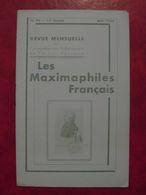 LES MAXIMAPHILES FRANÇAIS : REVUE MENSUELLE N°94 (1954) / ASSOCIATION DES COLLECTIONNEURS DE CARTES MAXIMUM (FRANCAIS) - Filatelie En Postgeschiedenis