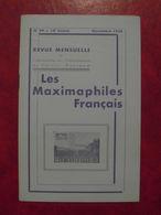 LES MAXIMAPHILES FRANÇAIS : REVUE MENSUELLE N°99 (1954) / ASSOCIATION DES COLLECTIONNEURS DE CARTES MAXIMUM (FRANCAIS) - Filatelie En Postgeschiedenis