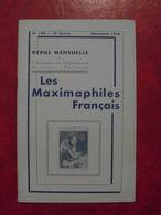 LES MAXIMAPHILES FRANÇAIS : REVUE MENSUELLE N°100 (1954) / ASSOCIATION DES COLLECTIONNEURS DE CARTES MAXIMUM (FRANCAIS) - Filatelie En Postgeschiedenis