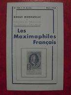 LES MAXIMAPHILES FRANÇAIS : REVUE MENSUELLE N°102 (1955) / ASSOCIATION DES COLLECTIONNEURS DE CARTES MAXIMUM (FRANCAIS) - Filatelie En Postgeschiedenis