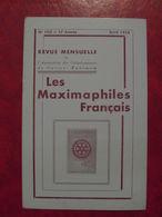 LES MAXIMAPHILES FRANÇAIS : REVUE MENSUELLE N°103 (1955) / ASSOCIATION DES COLLECTIONNEURS DE CARTES MAXIMUM (FRANCAIS) - Filatelie En Postgeschiedenis