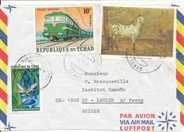 Tchad Air Mail Cover Sent To Germany 6-5-1974 Topic Stamps - Tschad (1960-...)