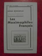 LES MAXIMAPHILES FRANÇAIS : REVUE MENSUELLE N°105 (1955) / ASSOCIATION DES COLLECTIONNEURS DE CARTES MAXIMUM (FRANCAIS) - Filatelie En Postgeschiedenis