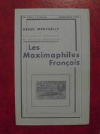 LES MAXIMAPHILES FRANÇAIS : REVUE MENSUELLE N°106 (1955) / ASSOCIATION DES COLLECTIONNEURS DE CARTES MAXIMUM (FRANCAIS) - Filatelie En Postgeschiedenis