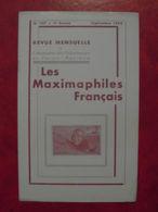 LES MAXIMAPHILES FRANÇAIS : REVUE MENSUELLE N°107 (1955) / ASSOCIATION DES COLLECTIONNEURS DE CARTES MAXIMUM (FRANCAIS) - Filatelie En Postgeschiedenis