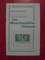 LES MAXIMAPHILES FRANÇAIS : REVUE MENSUELLE N°108 (1955) / ASSOCIATION DES COLLECTIONNEURS DE CARTES MAXIMUM (FRANCAIS) - Filatelie En Postgeschiedenis