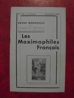 LES MAXIMAPHILES FRANÇAIS : REVUE MENSUELLE N°109 (1955) / ASSOCIATION DES COLLECTIONNEURS DE CARTES MAXIMUM (FRANCAIS) - Filatelie En Postgeschiedenis