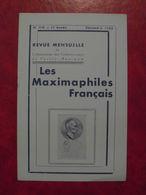 LES MAXIMAPHILES FRANÇAIS : REVUE MENSUELLE N°110 (1955) / ASSOCIATION DES COLLECTIONNEURS DE CARTES MAXIMUM (FRANCAIS) - Filatelie En Postgeschiedenis