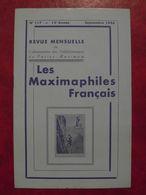 LES MAXIMAPHILES FRANÇAIS : REVUE MENSUELLE N°117 (1956) / ASSOCIATION DES COLLECTIONNEURS DE CARTES MAXIMUM (FRANCAIS) - Filatelie En Postgeschiedenis