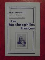 LES MAXIMAPHILES FRANÇAIS : REVUE MENSUELLE N°119 (1956) / ASSOCIATION DES COLLECTIONNEURS DE CARTES MAXIMUM (FRANCAIS) - Filatelie En Postgeschiedenis