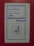 LES MAXIMAPHILES FRANÇAIS : REVUE MENSUELLE N°121 (1957) / ASSOCIATION DES COLLECTIONNEURS DE CARTES MAXIMUM (FRANCAIS) - Filatelie En Postgeschiedenis