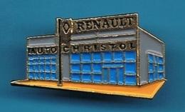PIN'S //  ** GARAGE RENAULT ** AUTO-CHRISTOL ** ALES / GARD ** - Unclassified