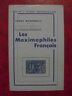 LES MAXIMAPHILES FRANÇAIS : REVUE MENSUELLE N°127 (1957) / ASSOCIATION DES COLLECTIONNEURS DE CARTES MAXIMUM (FRANCAIS) - Filatelie En Postgeschiedenis