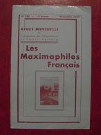 LES MAXIMAPHILES FRANÇAIS : REVUE MENSUELLE N°129 (1957) / ASSOCIATION DES COLLECTIONNEURS DE CARTES MAXIMUM (FRANCAIS) - Filatelie En Postgeschiedenis