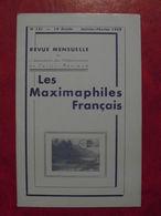 LES MAXIMAPHILES FRANÇAIS : REVUE MENSUELLE N°131 (1958) / ASSOCIATION DES COLLECTIONNEURS DE CARTES MAXIMUM (FRANCAIS) - Filatelie En Postgeschiedenis