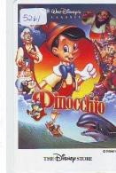 Télécarte * THE DISNEY STORE * Japon (110-165376) PINOCCHIO  (5261) * JAPAN PHONECARD *  CINEMA FILM MOVIE KINO - Disney