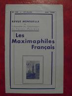 LES MAXIMAPHILES FRANÇAIS : REVUE MENSUELLE N°135 (1958) / ASSOCIATION DES COLLECTIONNEURS DE CARTES MAXIMUM (FRANCAIS) - Filatelie En Postgeschiedenis