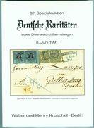 32. Kruschel Auktion 1991 - Deutsche Raritäten - Catalogi Van Veilinghuizen