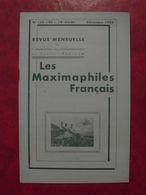 LES MAXIMAPHILES FRANÇAIS : REVUE MENSUELLE 139 140 1958) / ASSOCIATION DES COLLECTIONNEURS DE CARTES MAXIMUM (FRANCAIS) - Filatelie En Postgeschiedenis