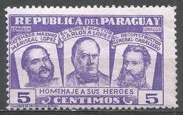 Paraguay 1954. Scott #481 (M) Three National Heroes - Paraguay